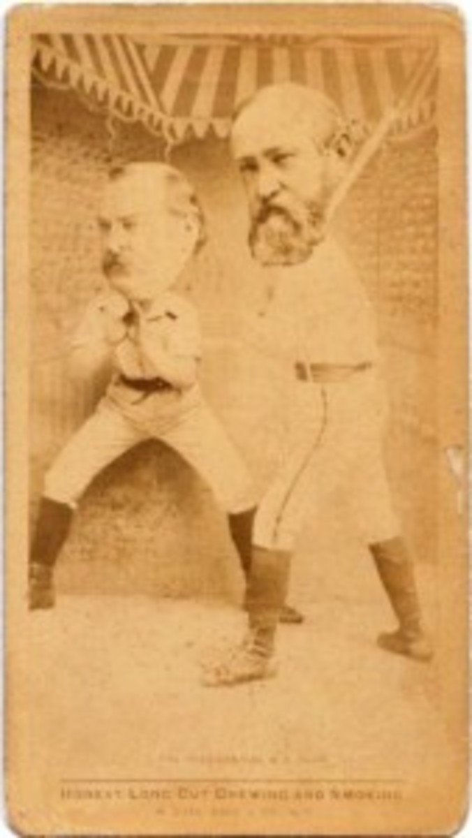 N154 was a tobacco issue that caught Frank's interest. It included Presidential candidates, baseball and women all on one card!