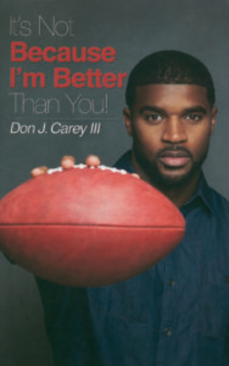 "Don J. Carey III was at the show to sign copies of his book ""It's Not Because I'm Better Than You!"""