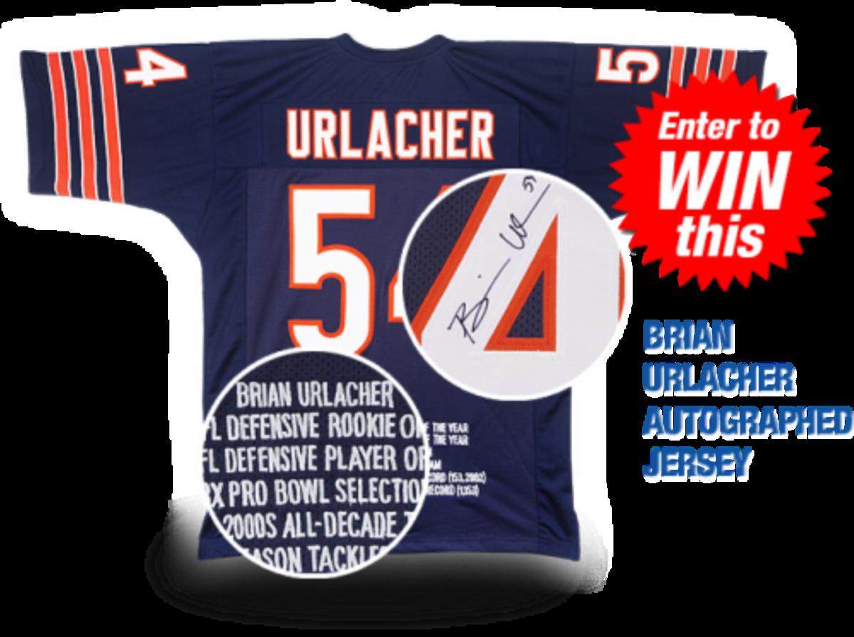 Autographed Brian Urlacher jersey