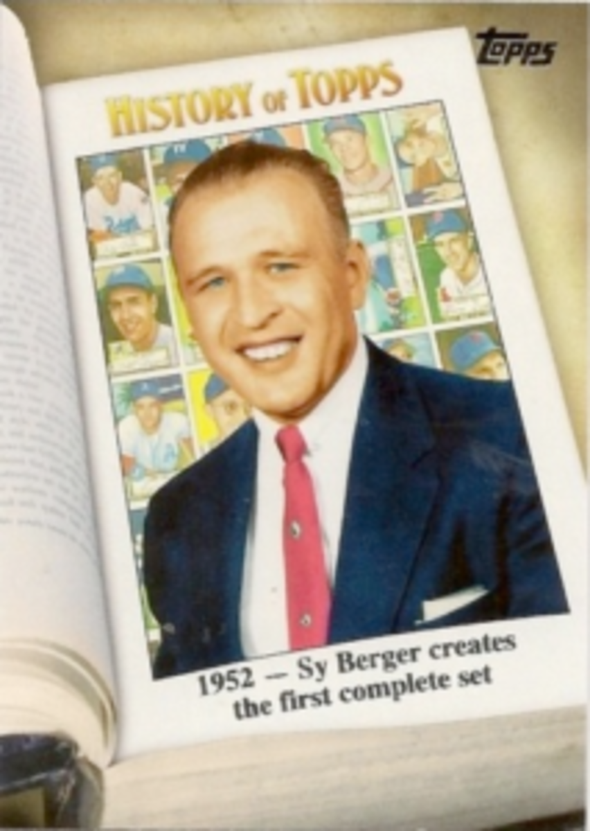 Sy Berger appeared on his own Topps card.