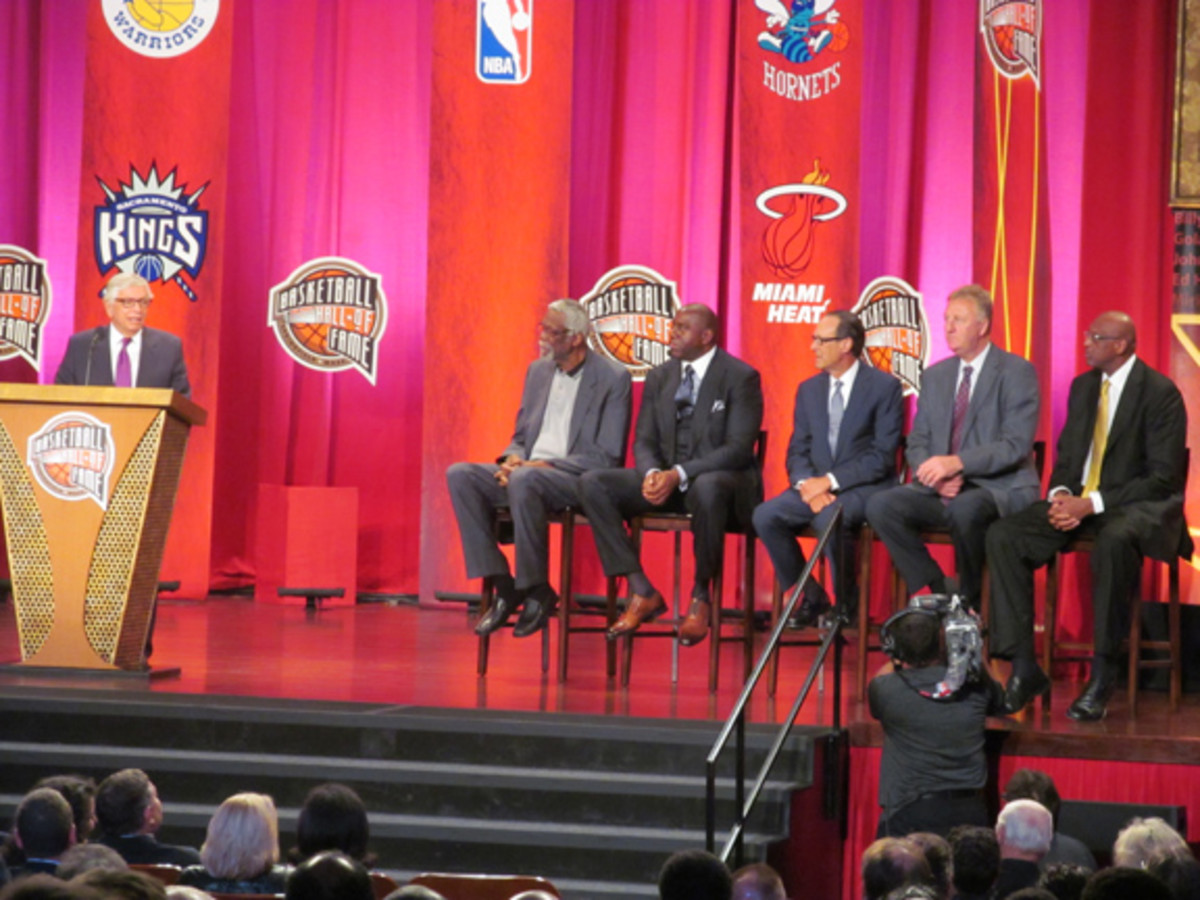 When you've been a successful NBA commissioner for decades, like David Stern, you get to have five amazing presenters during your HOF acceptance: Bill Russell, Magic Johnson, Russ Granik, Larry Bird and Bob Lanier.