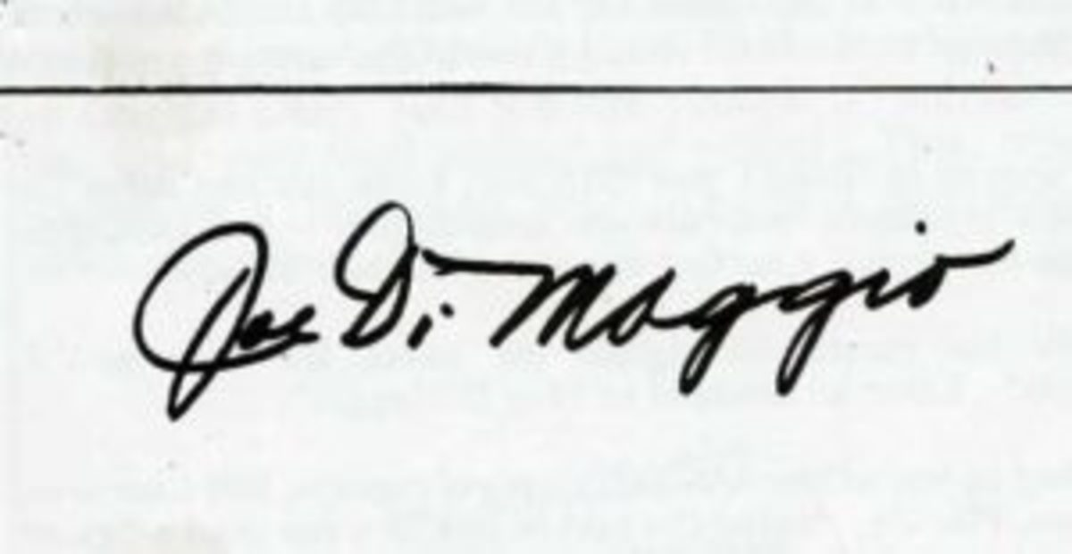 A common secretarial signature received though the mail.