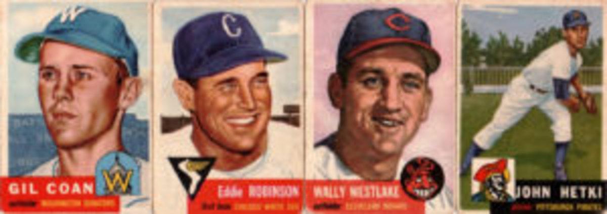 Super-seniors Gil Coan, Eddie Robinson, Wally Westlake and John Hetki appeared in the 1953 Topps set.