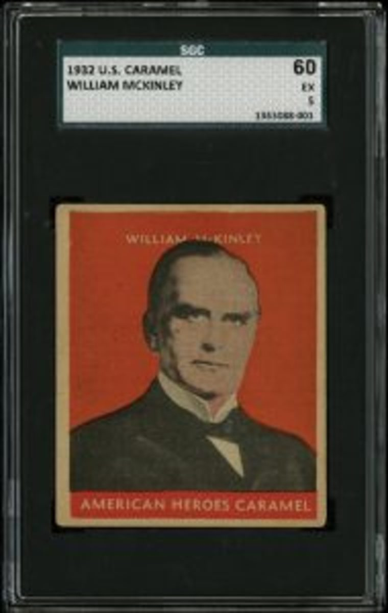 """The """"Lindstrom"""" of the U.S. Caramel presidential set is William McKinley. This example sold for $96,000."""