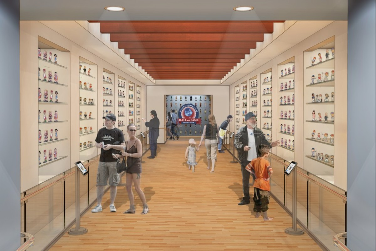 The Bobblehead Hall of Fame and Museum will also have an interactive element to its exhibits, where visitors can learn more about each bobblehead on display and the person or character portrayed.
