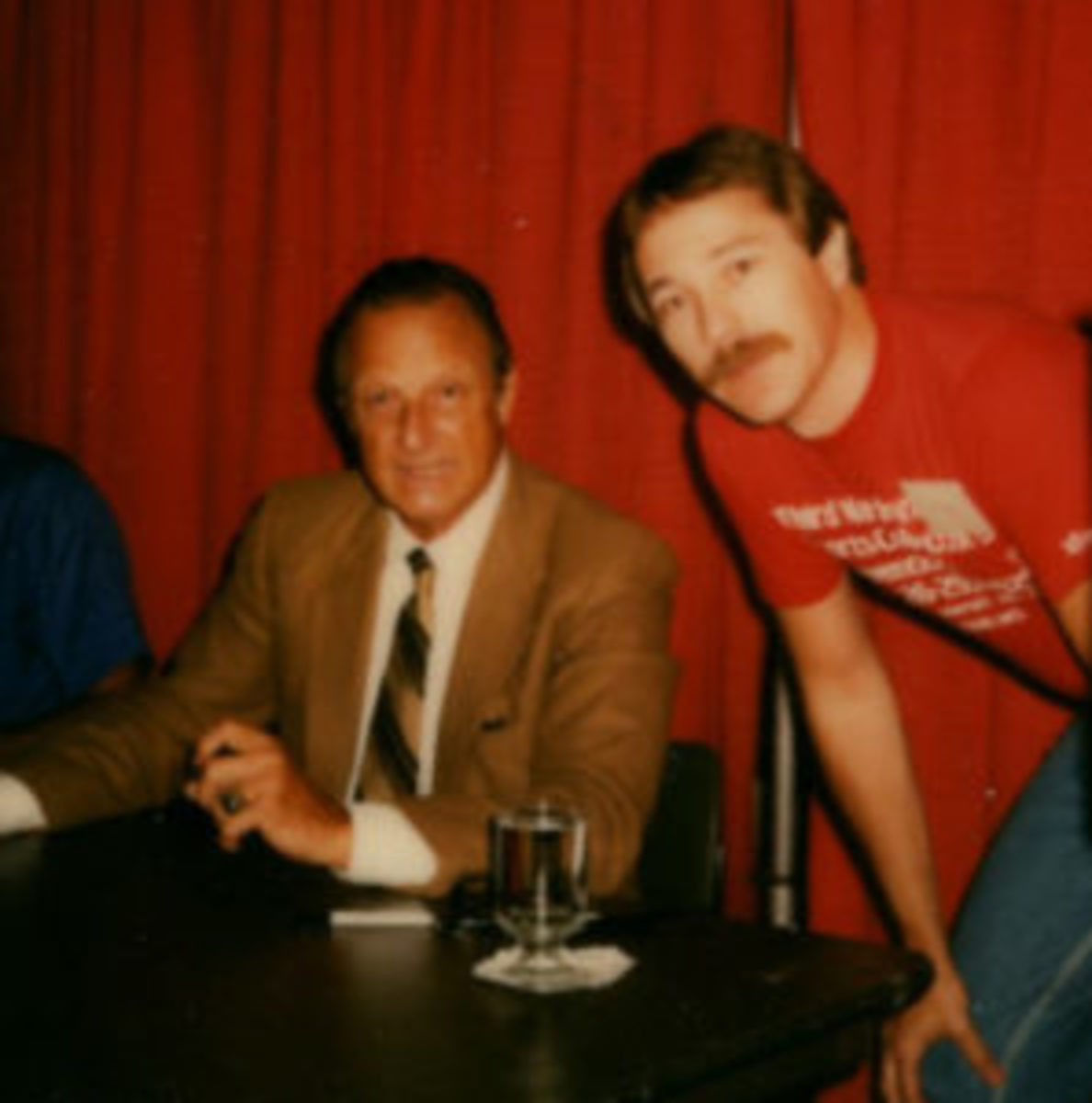 B.A. Murry met Stan Musial at this 1983 Kansas City show. (Photo courtesy B.A. Murry)
