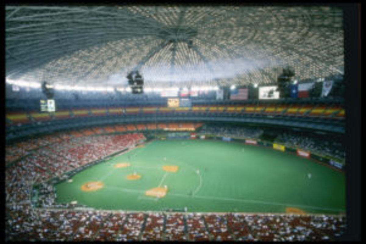 General view of the Houston Astrodome during a game between the Chicago Cubs and the Houston Astros, August 1996. (Photo by: Matthew Stockman/Getty Images)