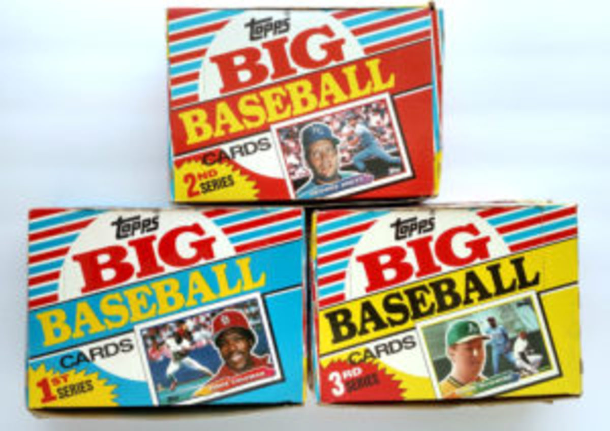 The 1988 Topps Big Baseball set was released in three smaller series, instead of one larger release. In 1988 that amounted to three series of 88 cards, for a total of 264 cards. (Images courtesy Sal Barry)