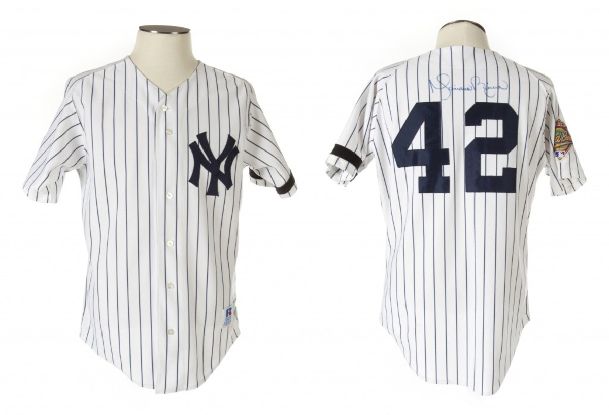 Julien's will offer an array of N.Y. Yankees game-used jerseys, from Mariano Rivera, shown, to Thurman Munson and Derek Jeter.