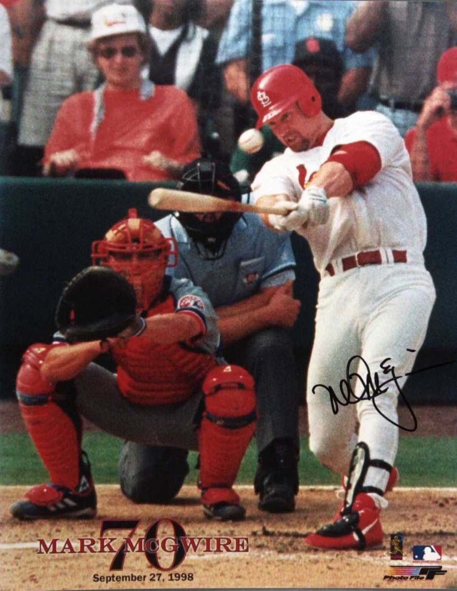 The Operation Bullpen crew churned out thousands of these McGwire fake-signed posters during the famous 1998 home run chase.