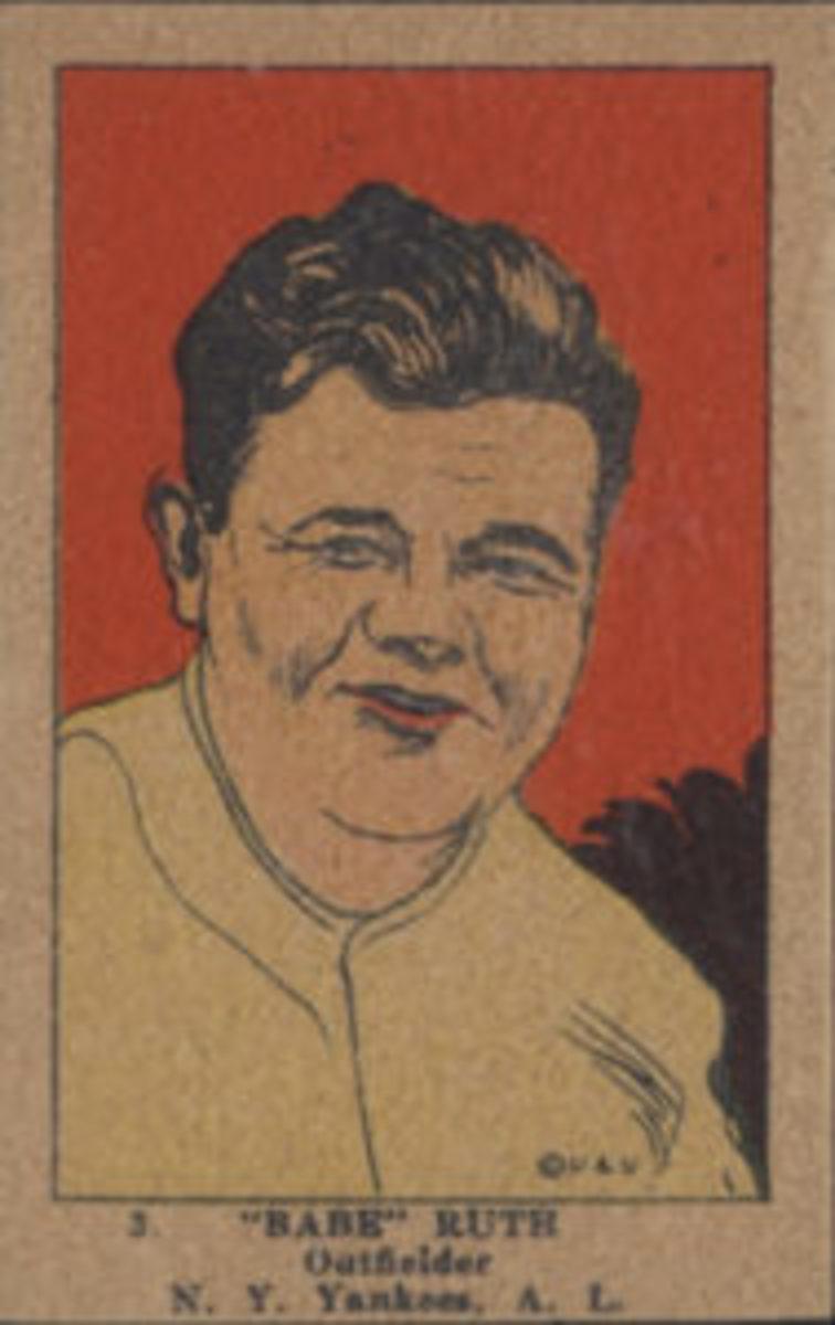 1923 W515-1 Babe Ruth No. 3