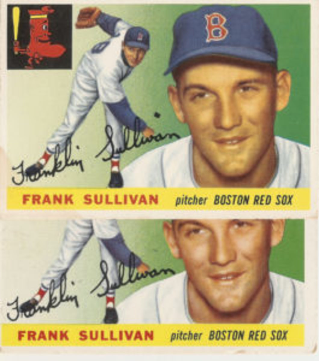 "Card No. 106 of Frank Sullivan comes with no dot, a heavy dot over the ""i"" or several versions of dots in between."