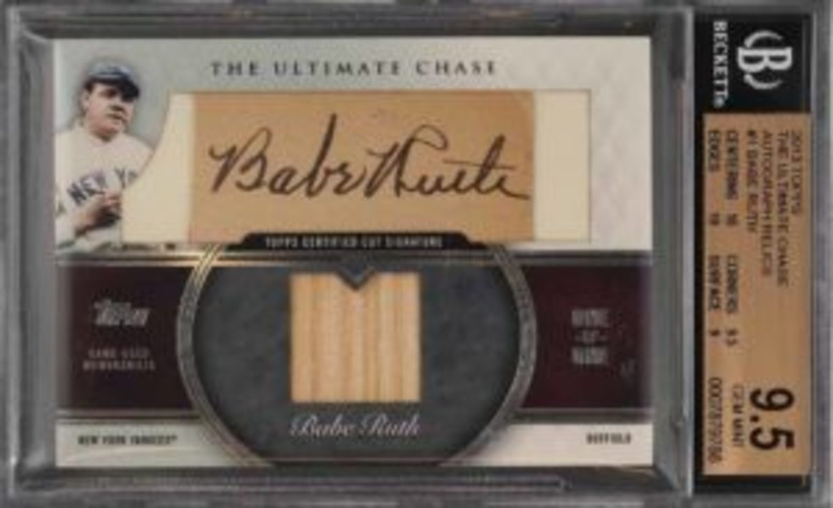 2013 Topps The Ultimate Chase Babe Ruth, #1/1, auto patch (BGS 9.5)
