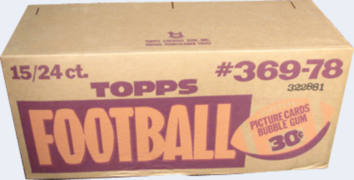 Collect Auction has no shortage of unopened product including this 1978 Topps Football cello case.