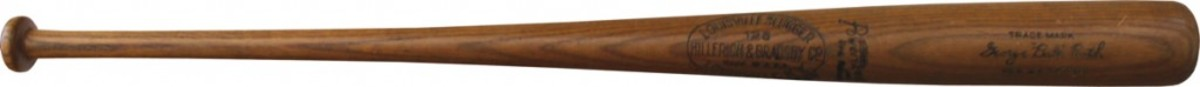 You'll be able to hold a 1932 Babe Ruth game-used bat, certified PSA 10, at the Long Beach Expo, September 4 - 6, 2014. (Photo credit: Memory Lane.)