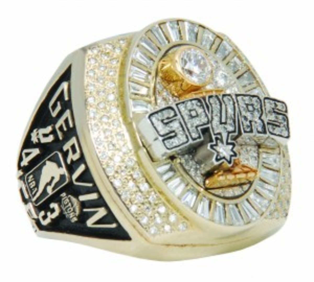 2005 George Gervin San Antonio Spurs Championship ring with original box, $54,000. Grey Flannel Auctions image.