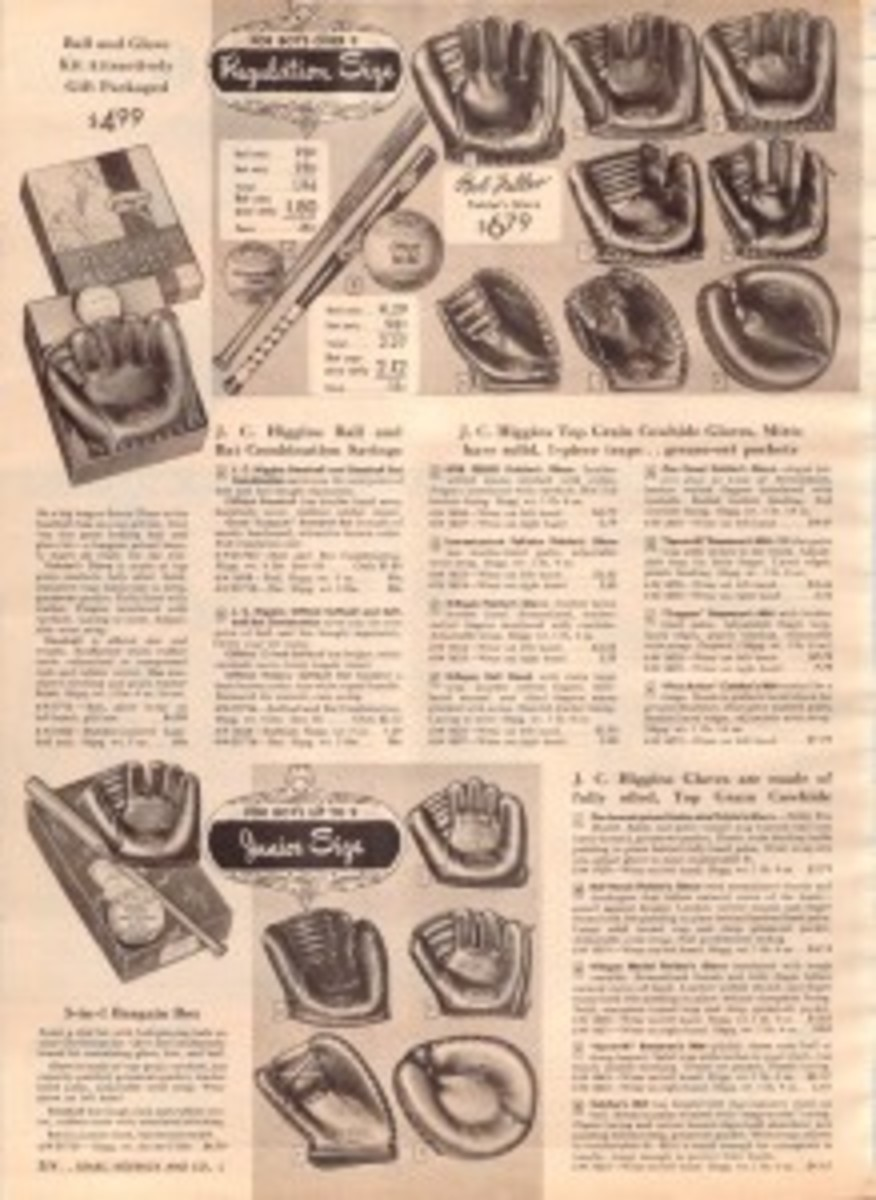 J.C. Higgins produced a line of signature model gloves, which included the likes of Bob Feller, Gil Hodges and Al Kaline. Collectors still covet these gloves on the secondary market today.