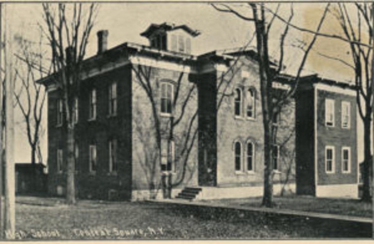 Jefferson Burdick's high school building is still standing. This photo is from 1910. (Photo courtesy of Central Square Community Historical Society)