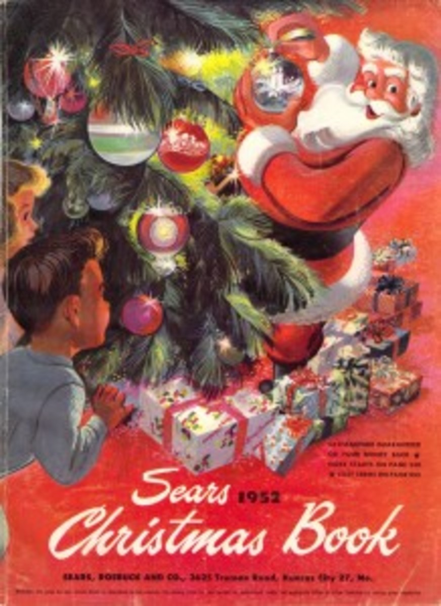 In the 1950s, this was how many people shopped for the holidays. Holiday catalogs included everything – clothes, appliances, toys and sports equipment.