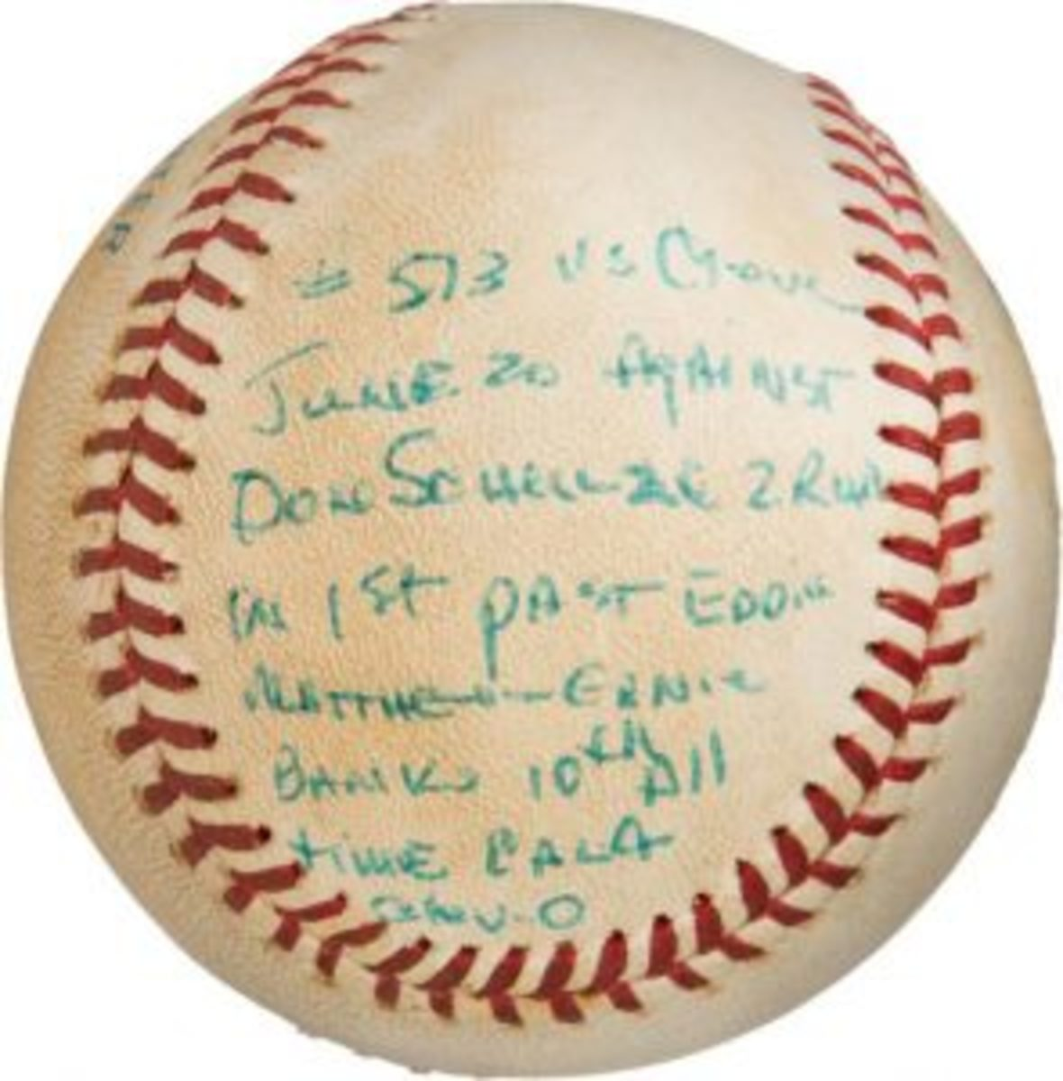 Reggie Jackson career home run baseball – No. 10 of 1985 season / No. 513 career (Photo courtesy Heritage Auctions)