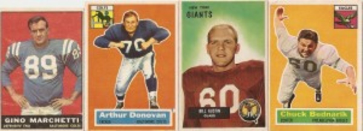 Go ahead and mess with the line, consisting of Marchetti, Donovan, Austin and Bednarik, who always seemed to fly through the air on these cards.