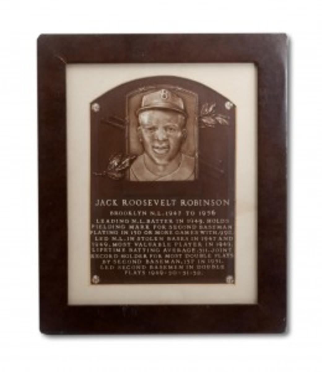 Jackie Robinson '62 HOF Plaque