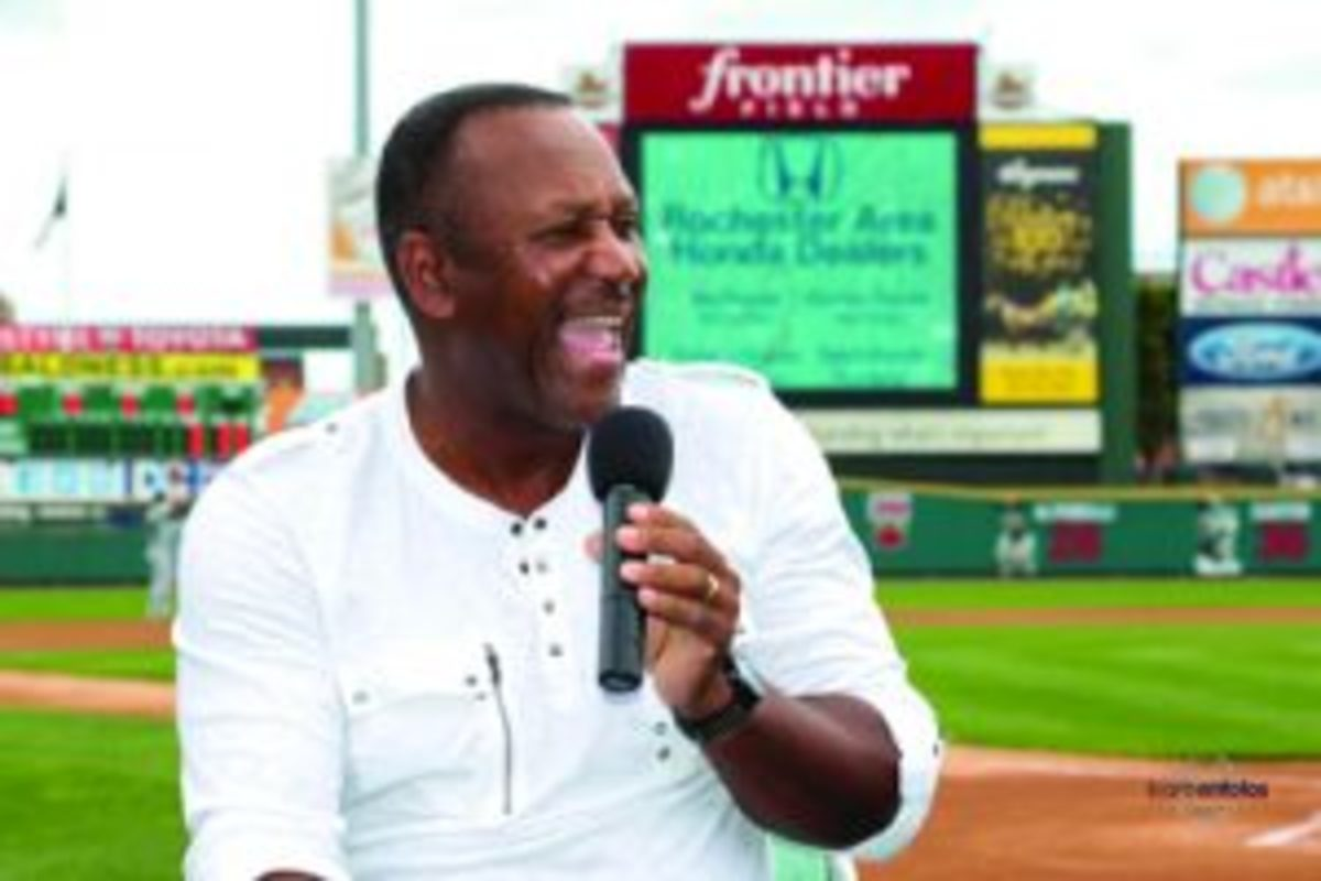 Joe Carter says the historic home run he hit to win the 1993 World Series changed his life forever. Photo Credit: Bare Antolos/RedWingsBaseball.com