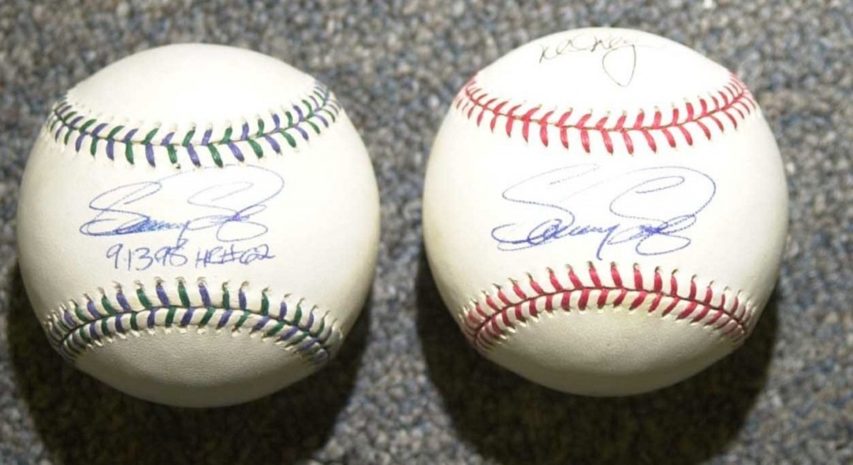 Collectors craved Sammy Sosa-signed baseballs during the chase, too. So the crooks produced them in bulk