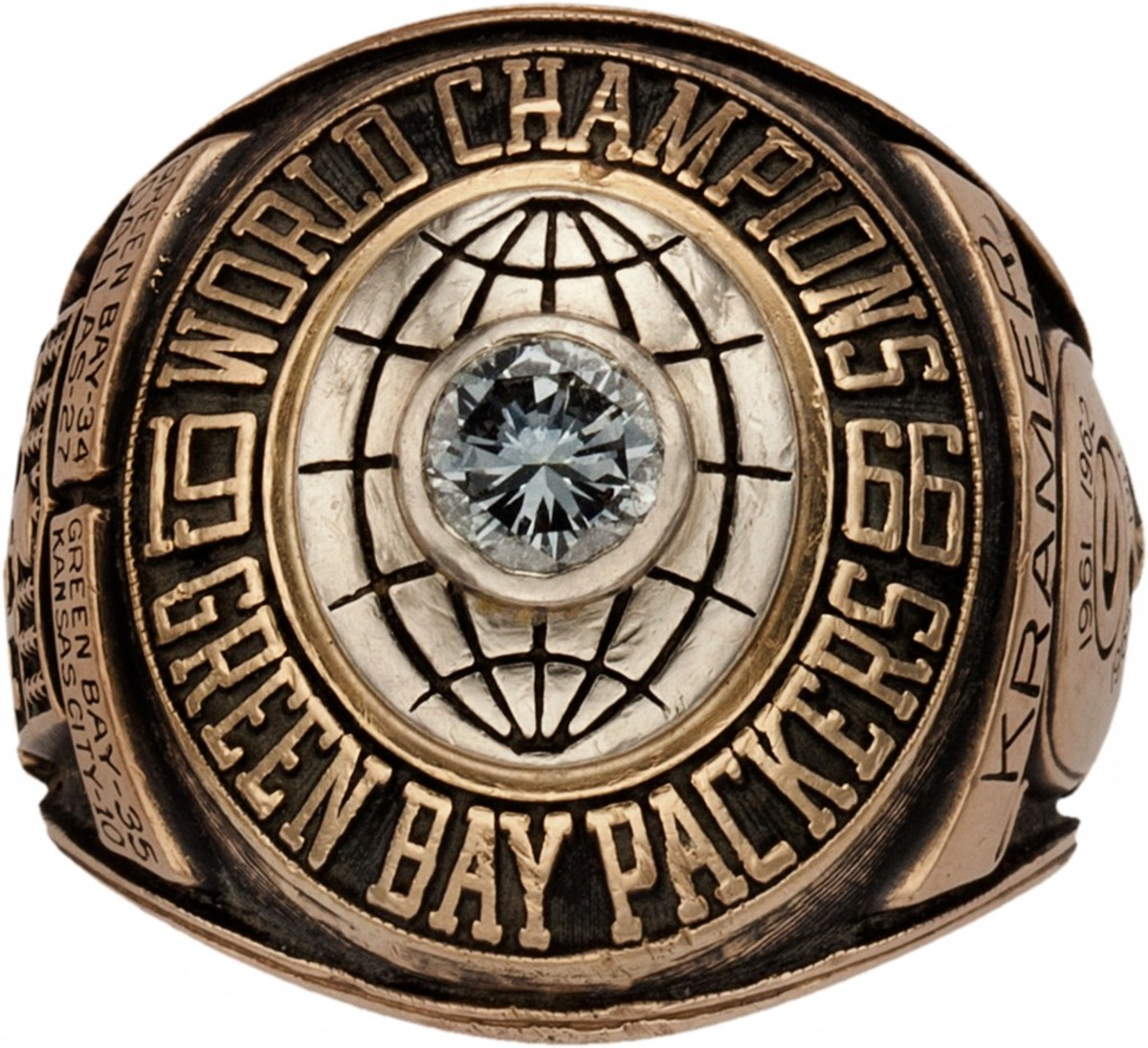 The most significant NFL Championship ring ever offered at auction - 1967 Green Bay Packers Super Bowl I Championship Ring Presented to Jerry Kramer Heritage Auctions-1