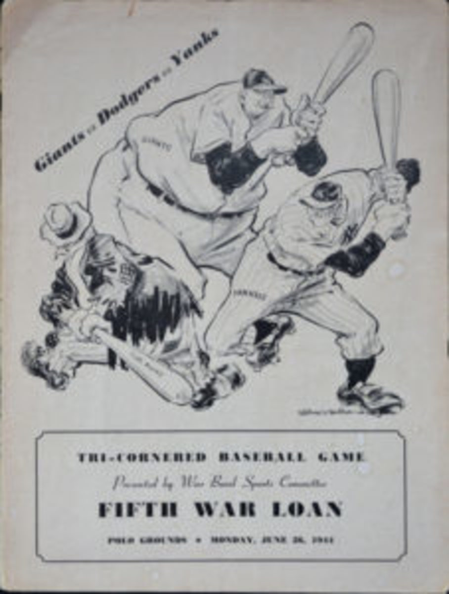 The cover of the program from the War Bond Game held June 26, 1944 at the Polo Grounds. (Images courtesy Tom Edwards)