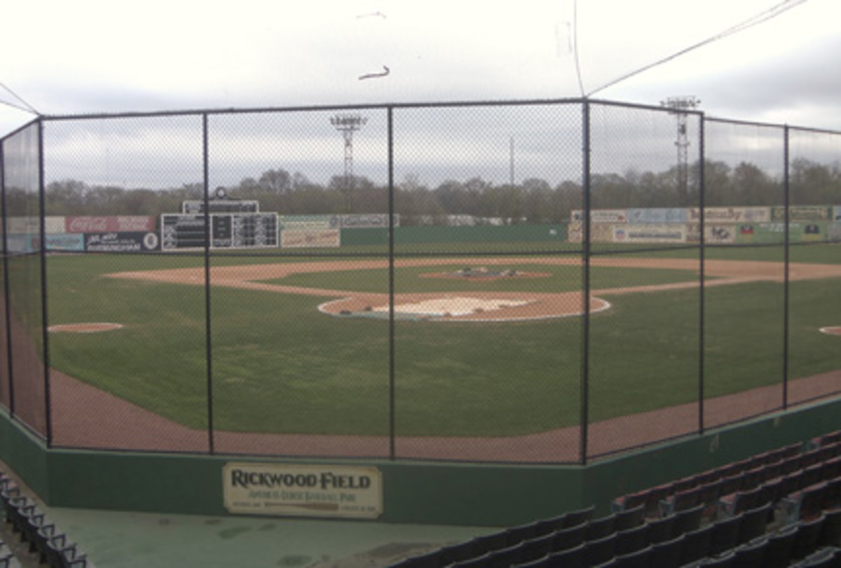 An inside the park look at Rickwood Field.