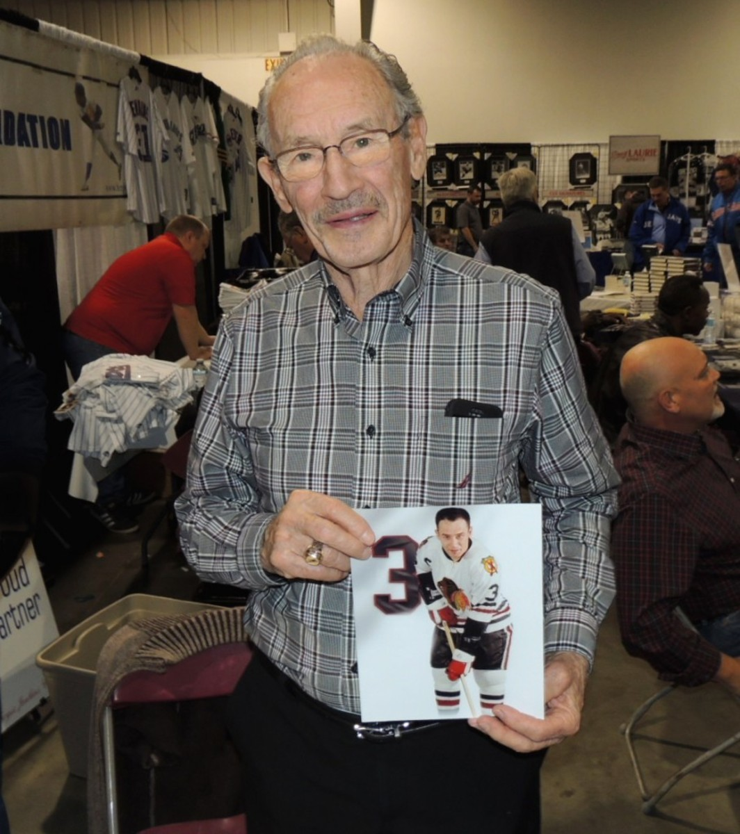 Pierre Pilote, 84, played 14 seasons with the Chicago Blackhawks before ending his career with the Toronto Maple Leafs (1968-69). He was elected into the Hockey Hall of Fame in 1975. All photos by Hank Davis.