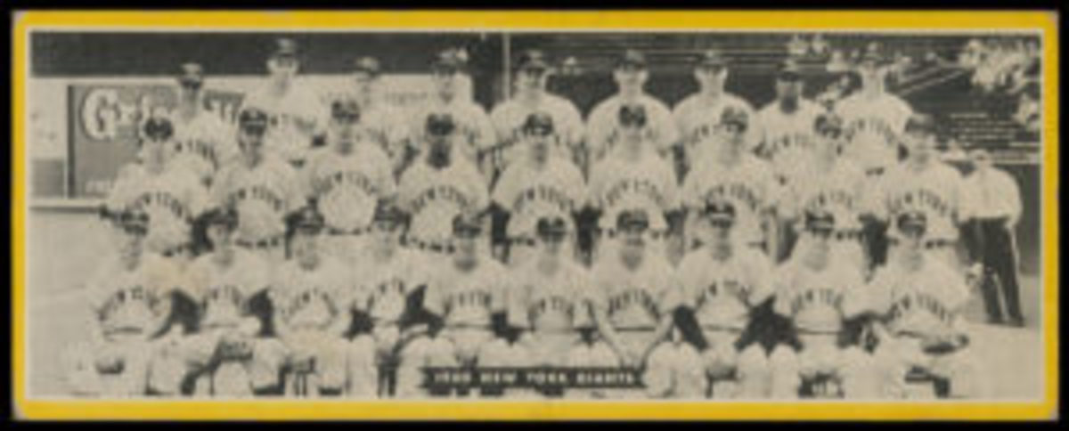 1951 Topps New York Giants dated team card.
