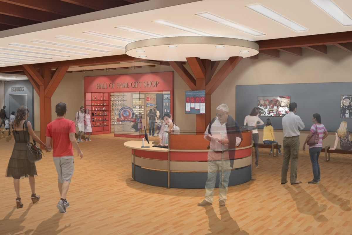 The Bobblehead Hall of Fame and Museum, with an artist rendering of the entrance shown here, will feature early and modern bobbleheads from sports to entertainment figures with the option for custom bobbleheads made on the spot.