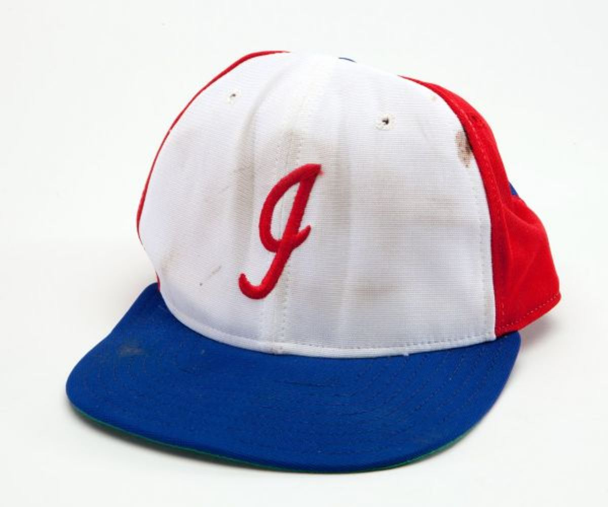 The hat that now resides in the Baseball Hall of Fame.
