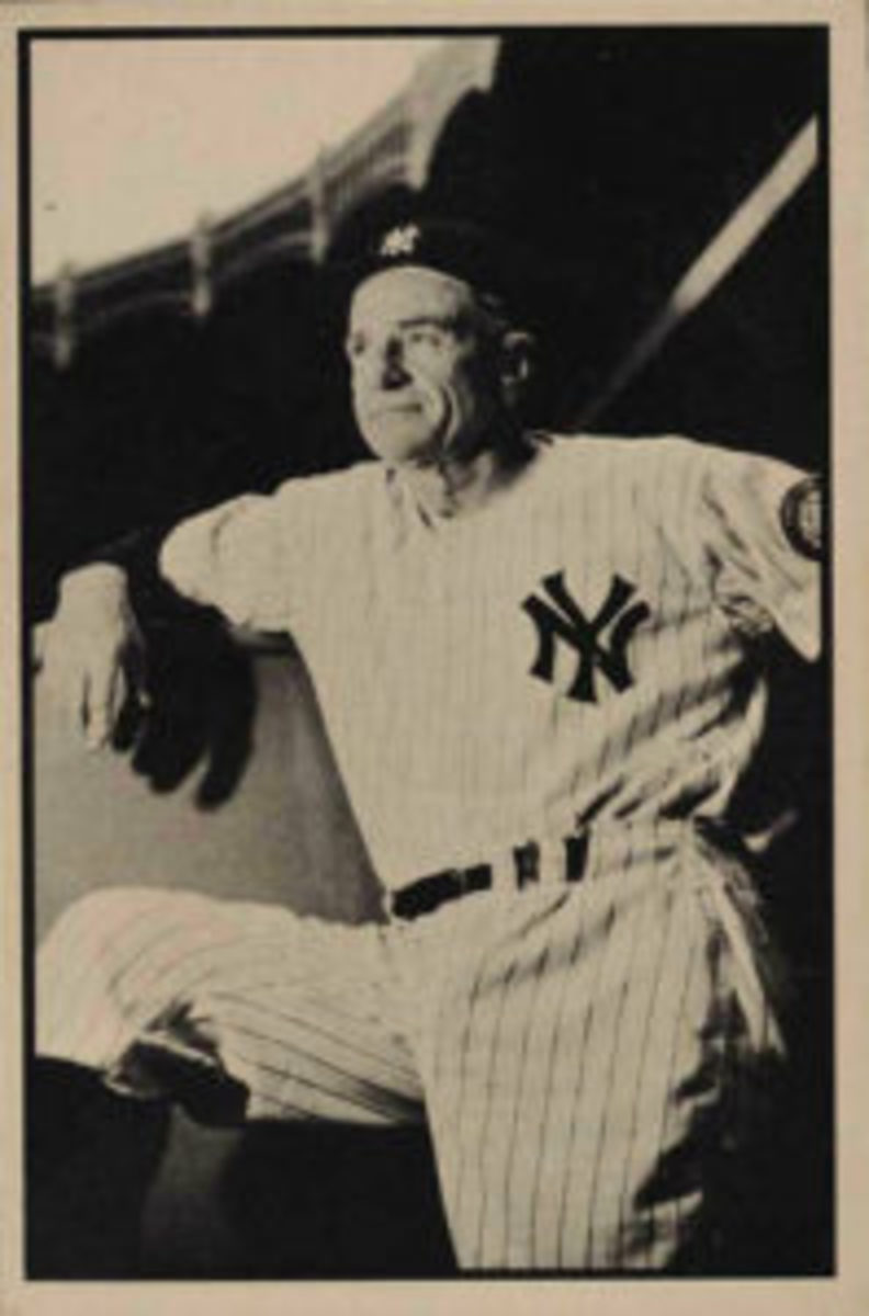 Casey Stengel is the most notable card in the B&W set.