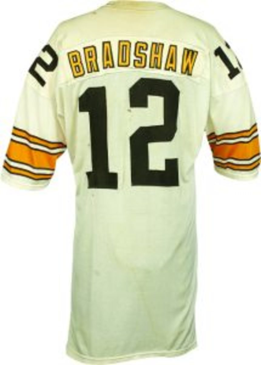 1977 Terry Bradshaw Game Worn AFC Championship Pittsburgh Steelers Jersey (Photomatched) (2)