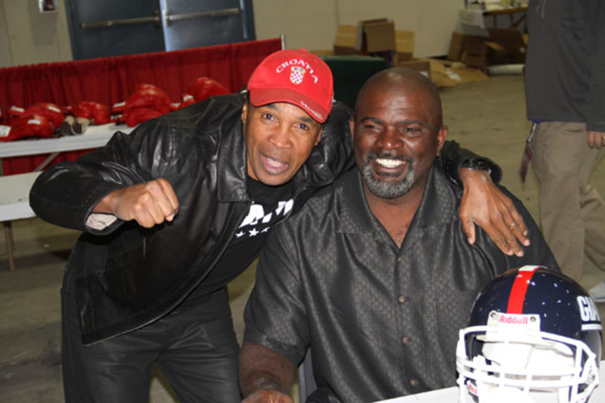 Sugar Ray Leonard and Lawrence Taylor