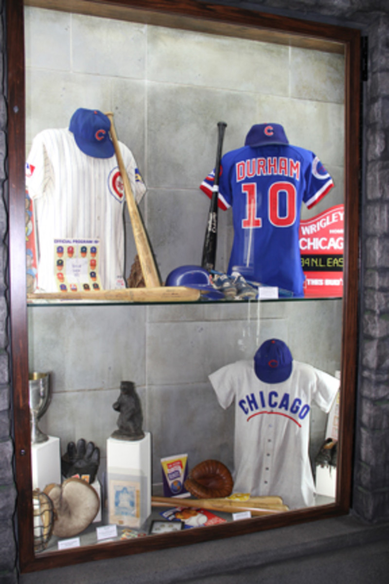 Game-used jerseys, bats and equipment are hallmarks of the Chicago Sports Museum. All photos courtesy of Ross Forman.