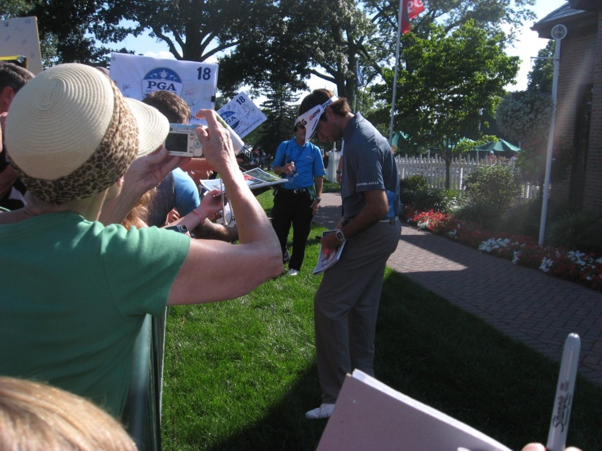 Bubba Watson was a willing signer during the PGA Championship.