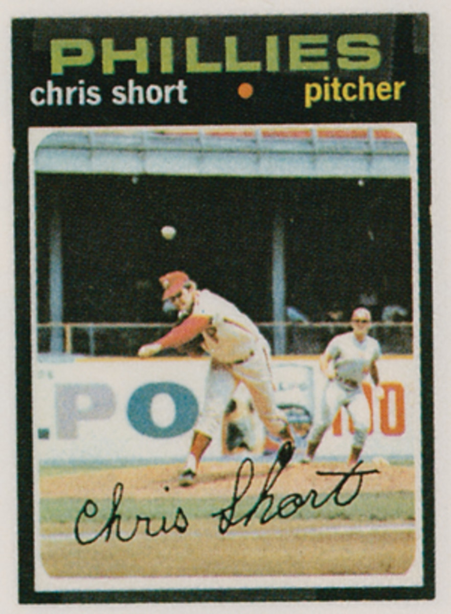 The mystery as to when the action took place in this photo on Chris Short's card can be solved quite quickly.