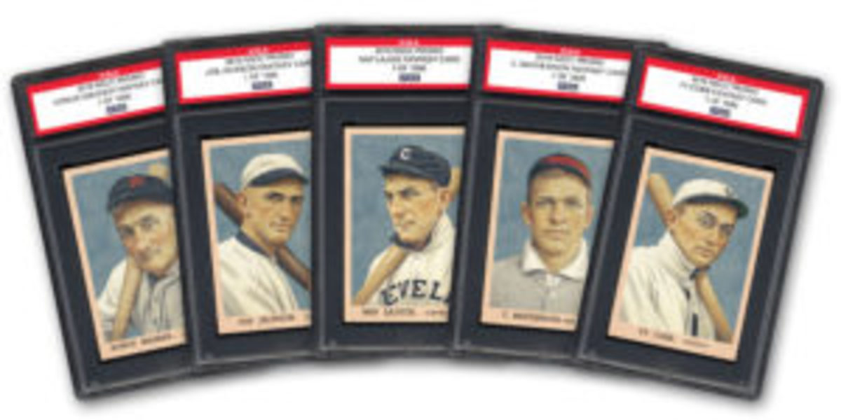 "Become a PSA Platinum Collectors Club member and receive this special five-card ""2019 NSCC Promo"" card set. Memberships need to be purchased after July 1, 2019, to be eligible for the cards. (Image courtesy PSA)"