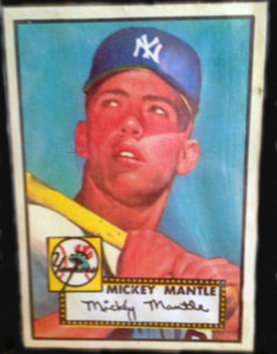 A 1952 Topps Mickey Mantle card found at a garage sale. Purchase price: $20. (Submitted photo)