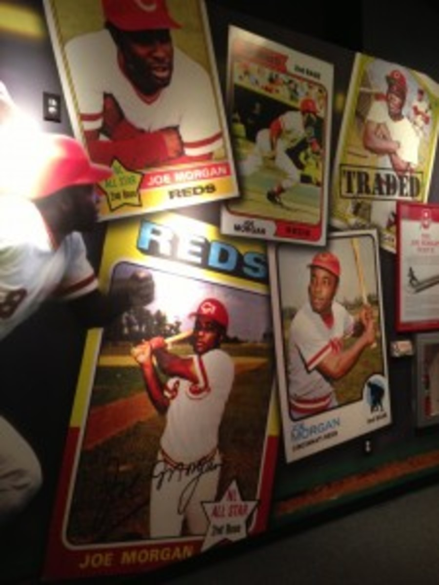 The HOF also used inventory from Dean's Cards and blew them up for wall displays.