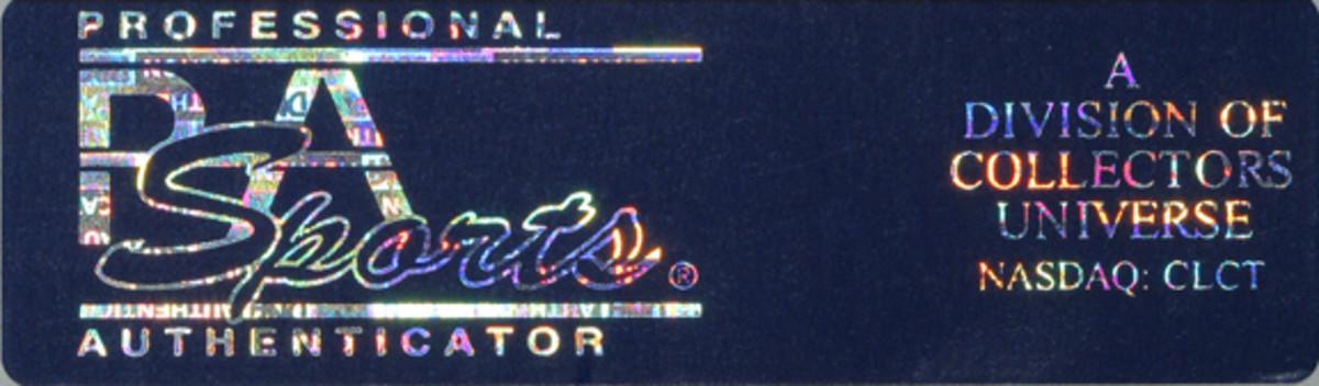 PSA's new hologram label.
