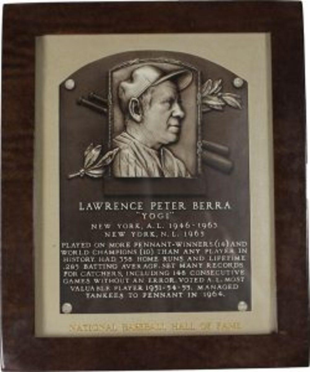 Berra HOF plaque