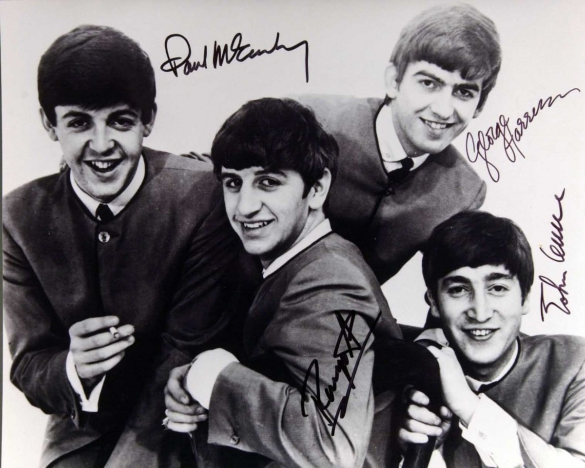 The smiles are all genuine, but the signatures are not: a Beatles forgery produced by the Operation Bullpen ring.