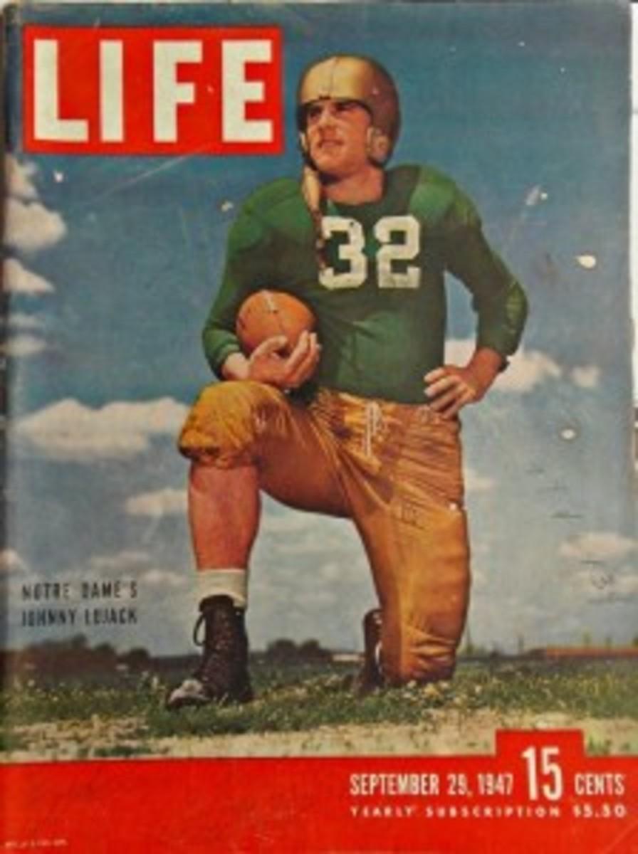 September 29, 1947 Life Magazine cover of Johnny Lujack