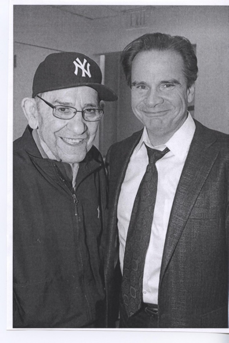 Yogi Berra and Peter Scolari