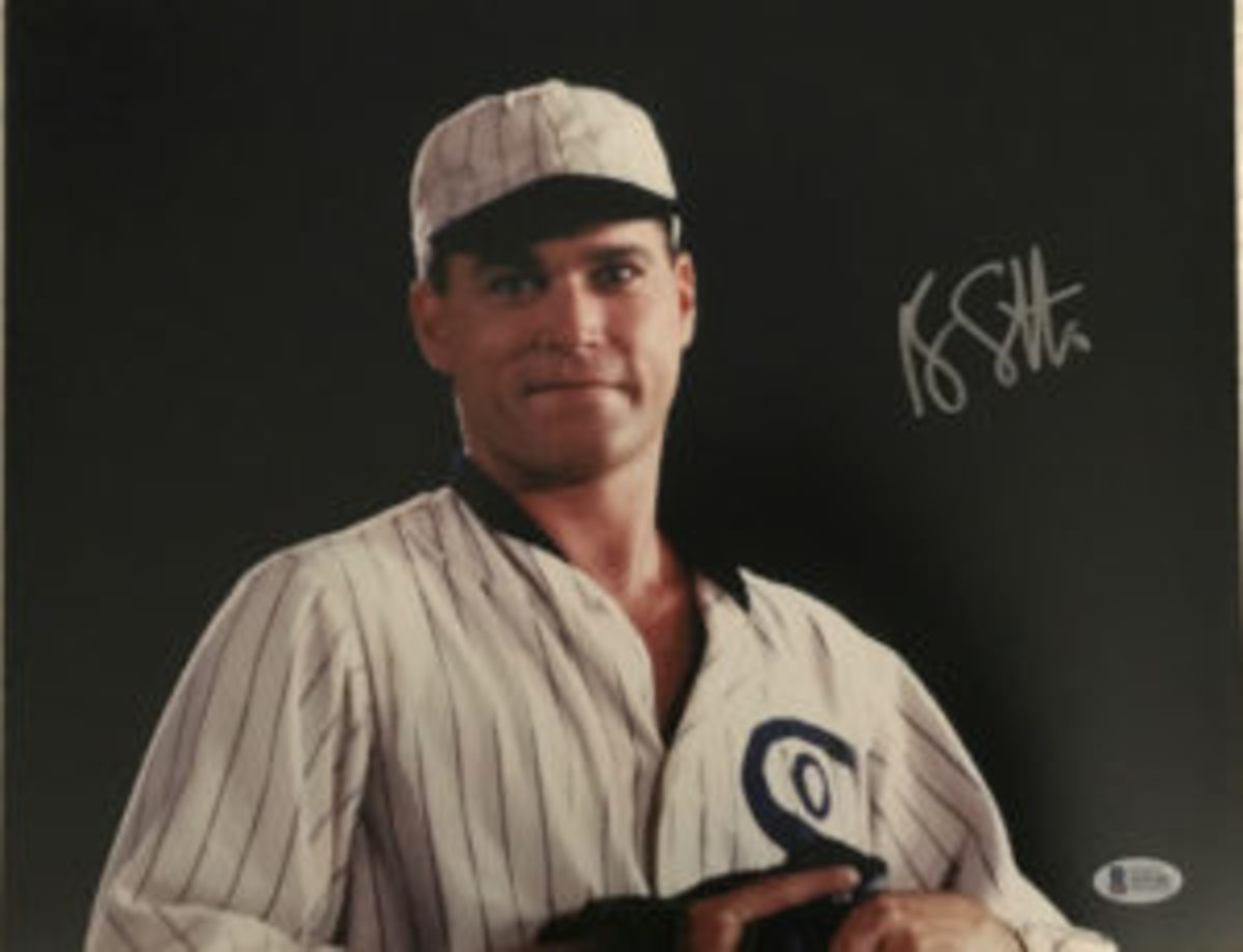 "There are plenty of photos available on eBay that are autographed by actors who appeared in the movie Field of Dreams. This photo is autographed by Ray Liotta, who played ""Shoeless"" Joe Jackson."